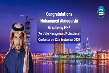Congratulations Mohammed on Achieving PfMP..!